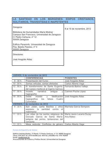 la santidad en los márgenes - Universidad de Zaragoza