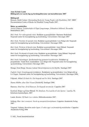 Bibliografi 2008 - Norsk Barnebokinstitutt