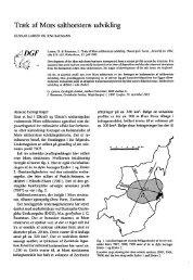 Træk af Mors salthorstens udvikling - Dansk Geologisk Forening