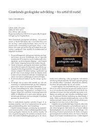 Grønlands Geologiske udvikling - fra urtid til nutid - Dansk Geologisk ...