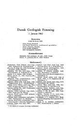 Dansk Geologisk Forening 1. januar 1962 s. A