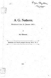 Afdøde medlemmer. A. G. Nathorst Nr. 1, s. 1-8 - Dansk Geologisk ...