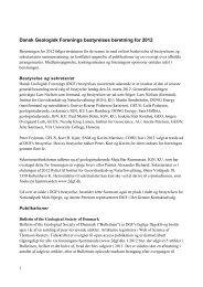 Dansk Geologisk Forenings bestyrelses beretning for 2010