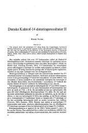Danske Kulstof-14 dateringsresultater II - Dansk Geologisk Forening