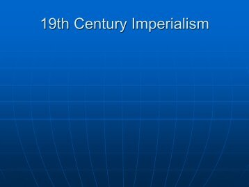 19th Century Imperialism - MDC Faculty Home Pages