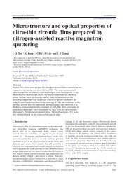 Microstructure and optical properties of ultra-thin zirconia films ...