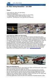 Newsletter St. Peter-Ording - Juli 2009