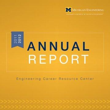 annual report - Engineering Career Resource Center - University of ...