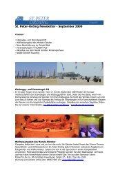 St. Peter-Ording Newsletter - September 2009
