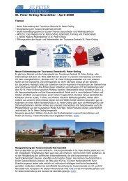 St. Peter-Ording Newsletter - April 2008