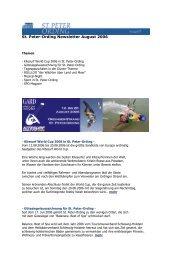 St. Peter-Ording Newsletter August 2006