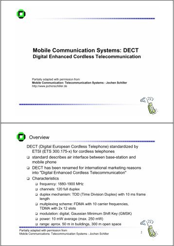Mobile Communication Systems: DECT
