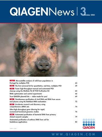 QIAGEN News - Rede Pró-Fauna