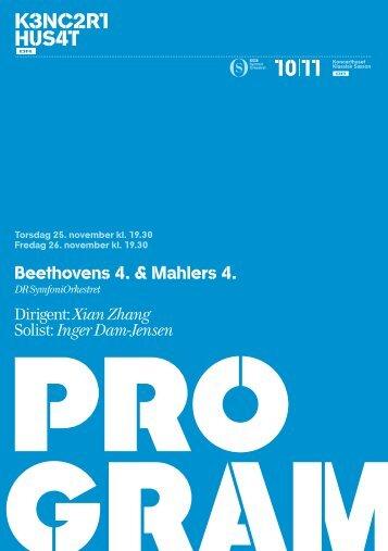 Hent programmet til Beethovens 4. og Mahlers 4. her - DR