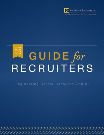 GUIDE for RECRUITERS - Engineering Career Resource Center ...