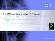 The IBM PowerEN™ Processor - Hot Chips
