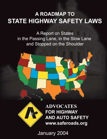 table of contents - Advocates for Highway and Auto Safety