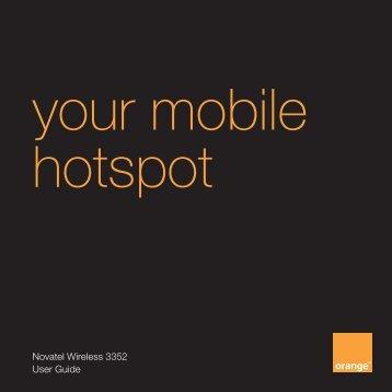 your mobile hotspot - Orange Shop