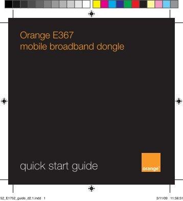 Orange E367 mobile broadband dongle - Orange Shop