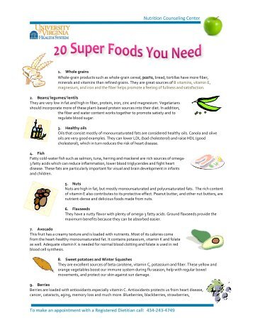20 super foods you need to be eating