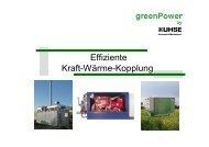 Effiziente Kraft-Wärme-Kopplung