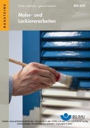 Maler- und Lackiererarbeiten