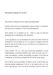 Dimissionstalen onsdag den 22. juni 2011 Kære ... - Herlufsholm