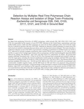 Detection by Multiplex Real-Time Polymerase Chain Reaction ...