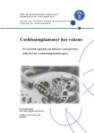 Cochleaimplantater hos voksne - Cochlear Implant Foreningen