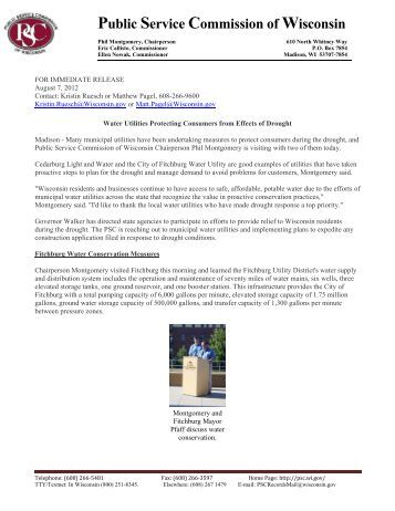 Water Utilities Protecting Consumers from Effects of Drought