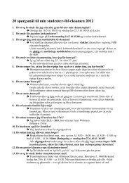 20 spørgsmål til min studenter-/hf-eksamen 2012 - Birkerød ...
