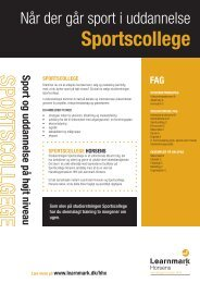 Sportscollege (pdf) - Learnmark Horsens