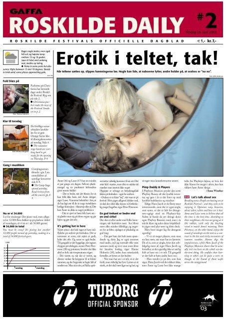 Erotik i teltet, tak! - Roskilde Festival