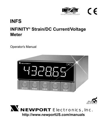 INFS - INFINITY Strain/DC Current/Voltage Meter Manual - Newport