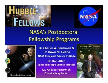 NASA's Postdoctoral Fellowship Programs