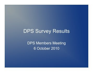 DPS Survey Results