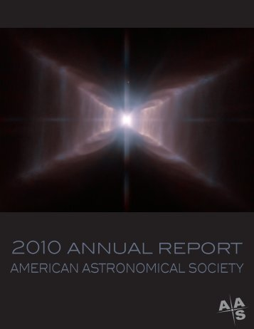 2010 annual report - American Astronomical Society
