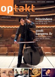 Prisvindere 2008: Sangens År - Optakt