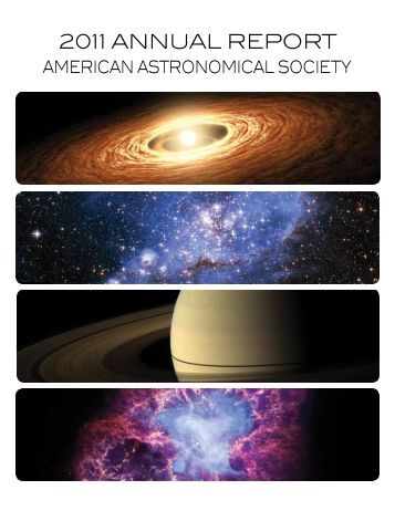 2011 annual report - American Astronomical Society