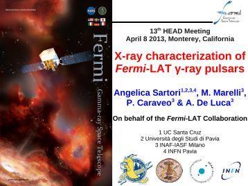X-ray characterization of Fermi-LAT γ-ray pulsars