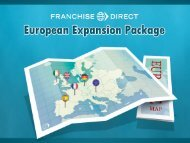 to develop your franchise into an international brand
