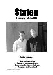 September 2005, årgang 8, nr. 1 - STATEN