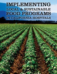Implementing Local and Sustainable Food Programs in California