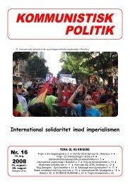 Kommunistisk Politik 16, 2008