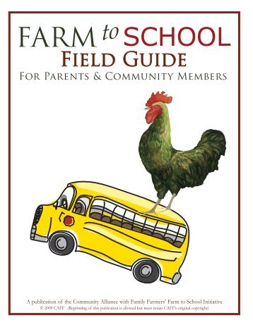 CAFF's Farm to School Guide for Parents and Community Members