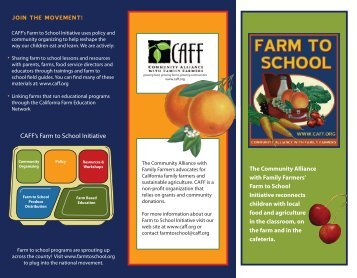 FTS brochure_out - Community Alliance with Family Farmers