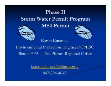 Phase II Storm Water Permit Program MS4 Permit - Kane County, IL