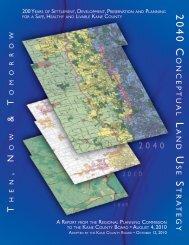 2040 Conceptual Land Use Strategy Map - Kane County, IL