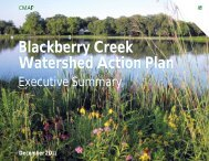 Blackberry Creek Watershed Action Plan - Kane County, IL