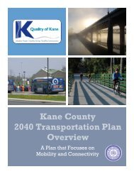 Kane County 2040 Transportation Plan Overview